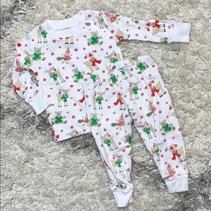 Kissy Kissy Christmas Pajamas 12-18m PJs PJ set